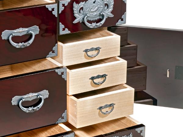 Le vrai meuble japonais fabrication for Meuble japonais bleu