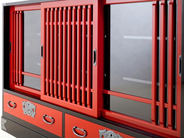 Meuble japonais rouge interesting meuble japonais rouge for Meuble japonais nice