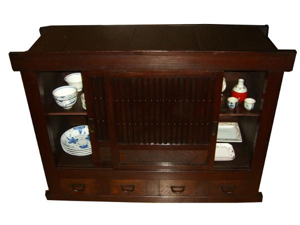 Armoire de chambre laque blanc for Design japonais mobilier