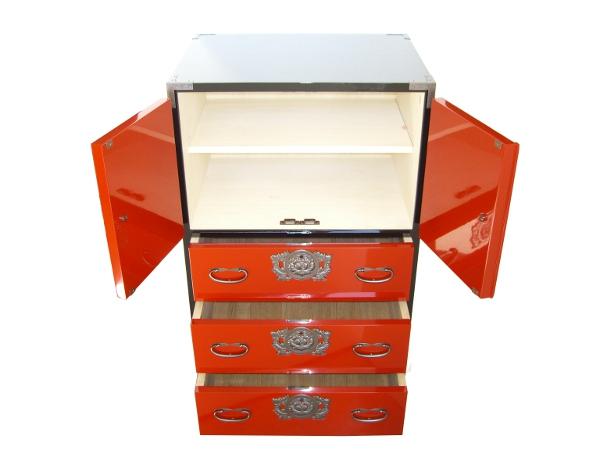 Le vrai meuble japonais ta ta 0025 ca nr - Meuble japonais rouge ...